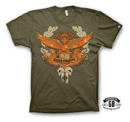 JÄGERTRUPPE T-Shirt army-green, inkl. beidseitigem Motivdesign by GENER8OR