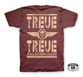 Treue um Treue T-Shirt, Bordeaux