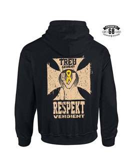 TREU GEDIENT Kapuzensweatshirt schwarz