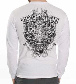 """Tri Langarm-Shirt """"Tiki"""", grau-mel. u. weiß"""