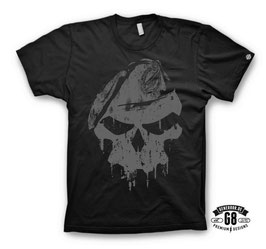 FschJg.-Shirt CoolGray-Skull