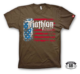 "Triathlon-Shirt ""Big Island"" (chocolate)"