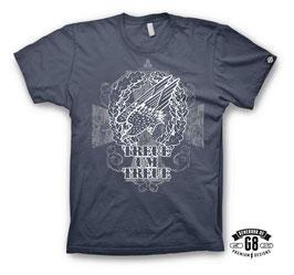 Treue um Treue T-Shirt, denim-blau