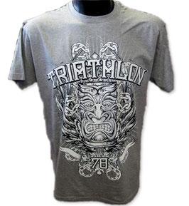 "Triathlon-Shirt ""Tiki"", grau.mel."