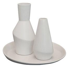 Parts Vase 10 cm, 16 cm und Teller im Set