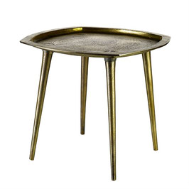 Sidetable square antique brass