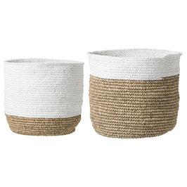 raffia baskets, set