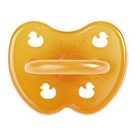 Hevea - Symmetrical Pacifier /  Symmetrischer Nuggi Ducks/Enten - Natural