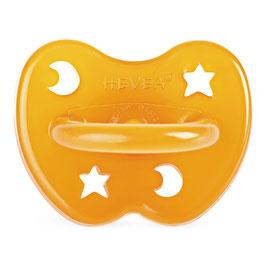 Hevea - Orthodontic Pacifier / Nuggi Natural Star & Moon