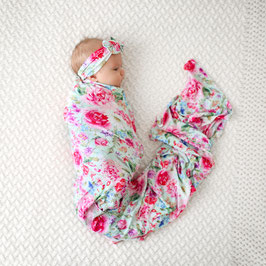 Posh Peanut - Swaddle & Headband Set Alice / Swaddle mit Stirnband Alice