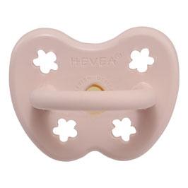 Hevea - Round Pacifier / Runder Nuggi Powder Pink, 0-3 months/Monate