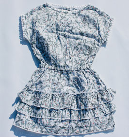 Gingersnaps: Frilly Tiered Dress with Flat Ball Laces