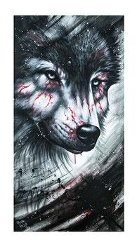Wolf Kunstdruck