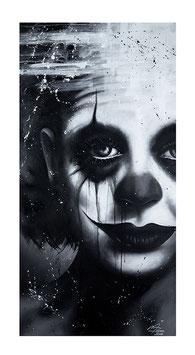 Clown Kunstdruck