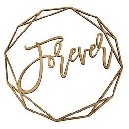 """Stuhlschilder Brautpaar """"Forever & Always"""" im Polygon"""