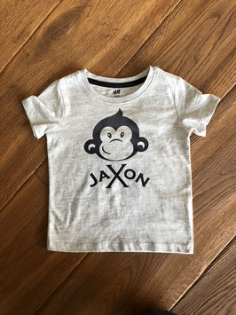 "T-Shirt Kids, weiss, ""Cheeky Monkey"" personalisiert"