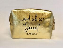 Makeup Tasche gold