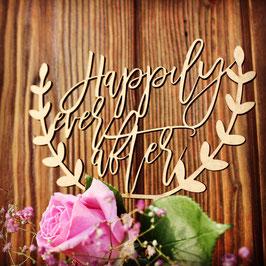 "Tortenstecker ""Happily ever after"""