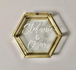 Ringbox Hexagon gold