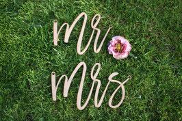 "Stuhlschilder Brautpaar ""Mr & Mrs"""