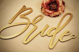 "Stuhlschilder Brautpaar ""Bride"" & ""Groom"""