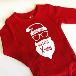 """Body Baby, rot, """"my first Christmas"""""""