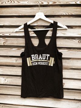 """Trainings-Shirt schwarz, Grösse S, """"Braut beim Workout"""""""