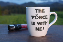 "Brauttasse ""The Force is with me"""