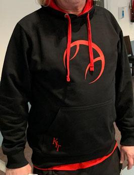KIT Hoddie Unisex schwarz, Logo rot