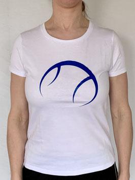KIT T-Shirt Damen weiß, Logo blau