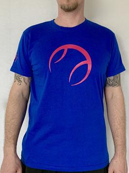 KIT T-Shirt Herren royalblau, Logo pink