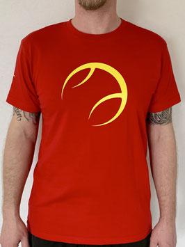 KIT T-Shirt Herren rot, Logo gelb