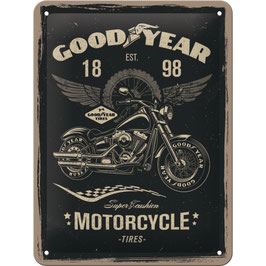 "Blechschild ""Good Year Motorcycle Tires"""