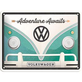 "Blechschild ""Volkswagen Adventure Awaits"""