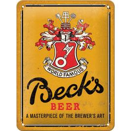 """Blechschild """"Becks Beer a masterpiece of the brewer´s art"""""""