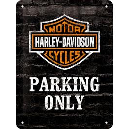 "Blechschild ""Harley-Davidson Parking Only"""