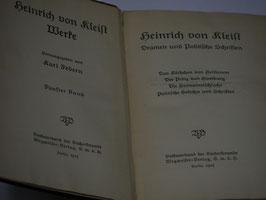 Heinrich von Kleist - Dramen und Politische Schriften