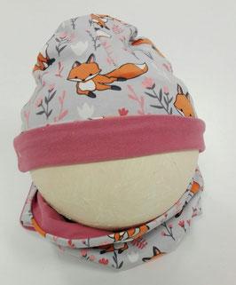 BABY muts/sjaal setje roze