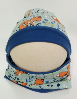 BABY muts/sjaal setje blauw