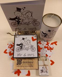 Cadeaupakket Mr&Mrs met 6 items