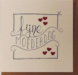 MOEDERDAG kaart 'fijne moederdag' (wit)