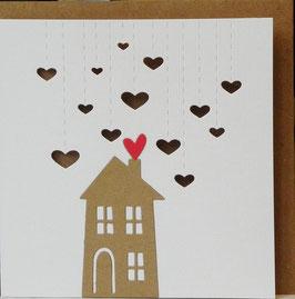 LIEFDE Huisje met hartjes