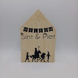 FEEST Houten huisje Welkom Sint & Piet