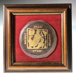 Goldglas mit Abraham und Isaak