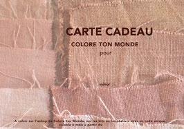 Carte Cadeau Colore ton Monde