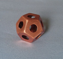 Platonischer Körper Element Äther (Spirit) - Dodekaeder  - Kupfer - 50 mm
