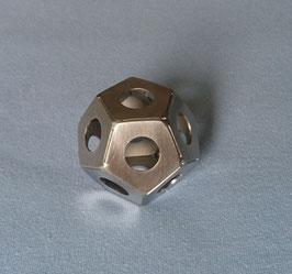Platonischer Körper Element Äther (Spirit) - Dodekaeder - Edelstahl - 50 mm
