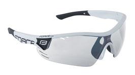 Sonnenbrille RACE PRO weiß-schwarz, photochrome Gläser
