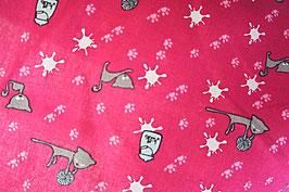 Baumwollstoff Katzen pink