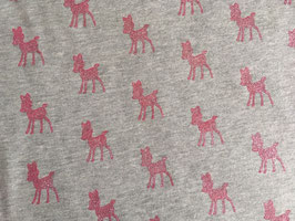Sweatstoff Dazzling Deer Glitter